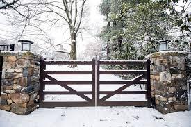Stone Entry Gate Designs Tri State Gate Driveway Gate Entry Gates Gate Lights