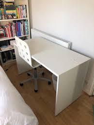 White Ikea Besta Desk - Discontinued