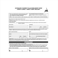 automatic withdrawal form template template automatic payment authorization form template