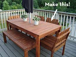 outdoor dining table diy outdoor table
