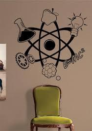 science atom design decal sticker wall
