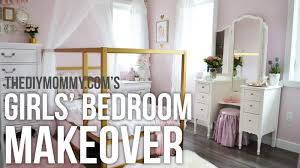 A Girls' Room Design Makeover in Gold, White and Pink! // My Kids ...