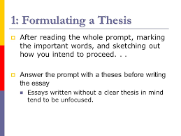 writing a historical essay the thesis and introduction a ppt  3 1 formulating