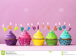 Happy Birthday Cupcakes Stock Image Image Of Frosted 54600337