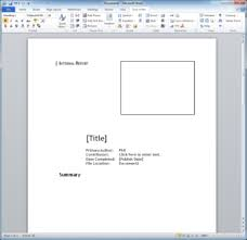report template for word technical report template techwriter