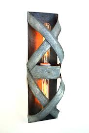 edison bulb wall light fixtures loft bandeau wine barrel ring wall sconce by