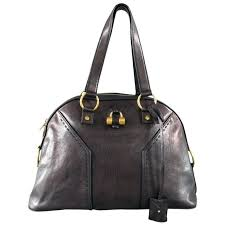 saint muse black brown leather tote handbag for purse extra large womens id v