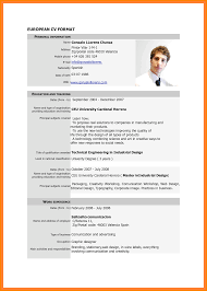 8 Examples Of Curriculum Vitae For Job Application Points Of Origins