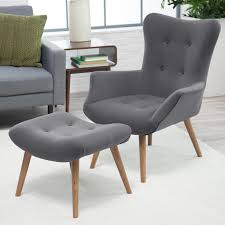 Belham Living Matthias Mid Century Modern Chair And Ottoman Accent Chairs A