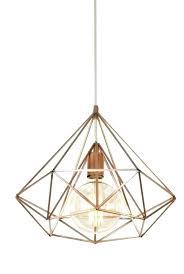 rose gold cage finish pendant lamp light geometric pendant cult living metal cage light gold