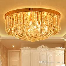 crystal ceiling chandelier luxury royal european round classic led chandelier lights for hotel villa living room bedroom ceiling chandeliers chandelier