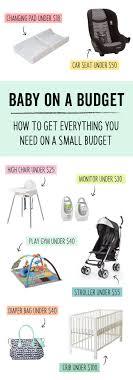 baby item checklist budget baby registry