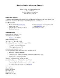Graduate Nursing Resume Examples 19 Registered Nurse Resumes