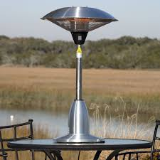 image of outdoor propane heaters on the table