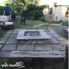 diy stone fire pit new stone patio diy fire pit wood beam benches lehman