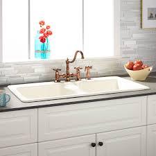 Drop In Farmhouse Kitchen Sink Drop In Kitchen Sinks Signature Hardware