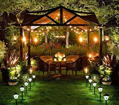 outdoor solar lighting ideas. Line The Path To Your Solar Lit Gazebo With Two Rows Of Landscape Lights. Via Indulgy. Outdoor Lighting Ideas E