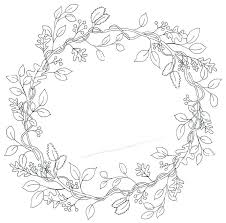 Coloring Pages Spring Wreath