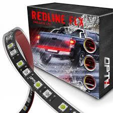 redline led tailgate light bar reverse opt7 redline flx flexible led tailgate light bar reverse