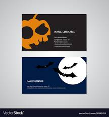 Halloween Business Cards Set Of Two Halloween Business Cards Usa Standard