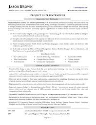 Construction Superintendent Resume Updated Useful Piping