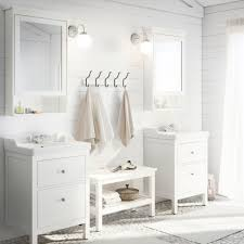 ikea white furniture. Ikea White Furniture. A Bathroom With Two Washbasins, Bench, Striped Rugs And Furniture R