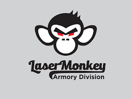 Monkey Design Logo Bold Modern Gun Logo Design For Laser Monkey Armory
