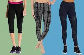 collage of hard l flat waist capri leggings nike pro capris and under