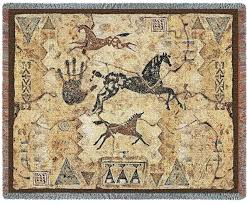 equestrian home accessories tlalocs tribe woven tapestry throw