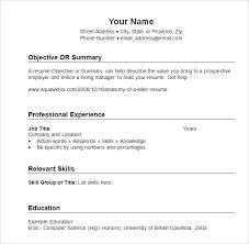 Resume Formats Sample Sample Resume Template Chronological Best