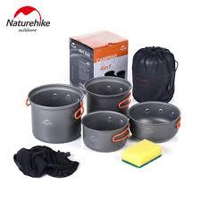 Naturehike Outdoor <b>Camping Tableware</b> Picnic Pots Cookware ...