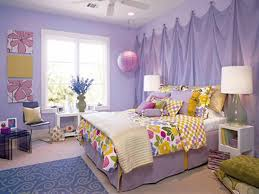decorating bedroom with light purple wall color for teenage girls in luxurious room design with cool multi color bed cover and beautiful two nighstand table bedroom large size cool