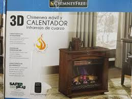chimney free 3d rolling mantel fireplace with infrared quartz heater