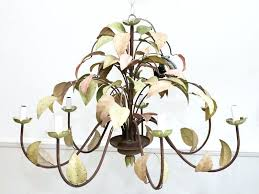 idea pink and green chandelier for a french painted green pink metal leaf chandelier with 8 idea pink and green chandelier