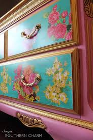 floral decoupage furniture. Pink Floral Dresser Decoupage Furniture R