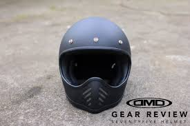 return of the cafe racers gear review dmd seventy five helmet