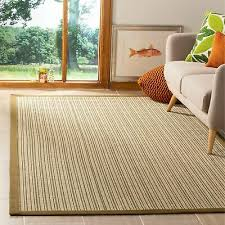 safavieh natural fiber multi green sisal rug 6 x 9