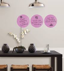 plush purple dry erase dots removable wall decals  wallwall