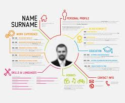 Visual Resume Templates 1214 Best Infographic Visual Resumes Images On  Pinterest Resume