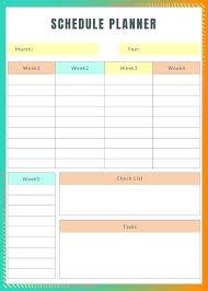 Printable Weekly Schedule Maker Schedule Maker Template