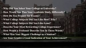 interview questions and answers for college interview questions and answers for college