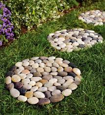natural river rock stepping stones with