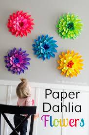 paper dahlia flower craft for spring