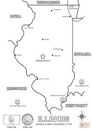 Small Picture Illinois Map coloring page Free Printable Coloring Pages
