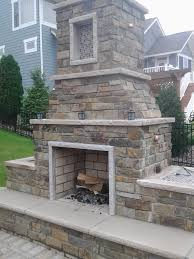 Natural Stone Fireplace Outdoor Fireplace With Edwards Natural Stone And Limestone Trim