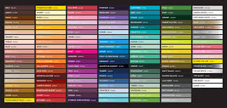 Fw Inks Colour Chart Fw Acrylic Ink Color Chart Floquil Paints Chart Enamel Paint
