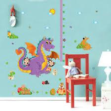 Details About Children Height Growth Chart Measure Dragon Wall Sticker Kids Room Decor Diy