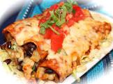 bean  cheese  and corn enchiladas