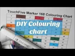 Touchfive Markers 168 Coloring Chart Free Printable Sheet