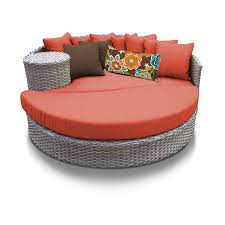 Outdoor Furniture Outdoor Round Wicker Lounge Bed
